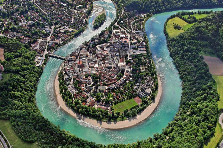 Luftbild von Wasserburg a.Inn